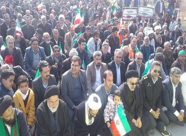 حضور با شكوه مردم در راهپيمايي بيست و دوم بهمن ماه
