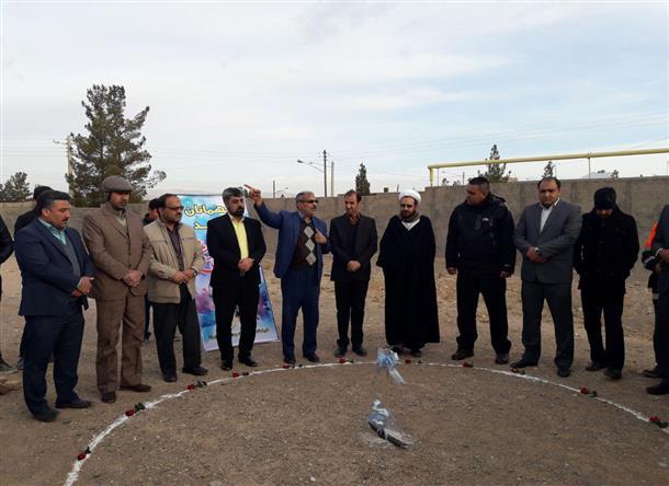 مراسم كلنگ زني زمين چمن مصنوعي و افتتاح جاده سلامت در شهر خوسف