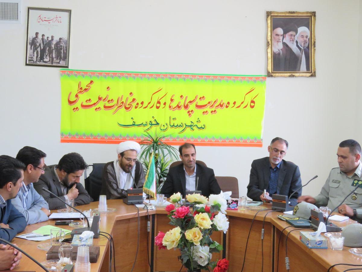 طرح فاضلاب شهر خوسف تصويب و جهت دريافت اعتبار به تهران ارسال شده است.